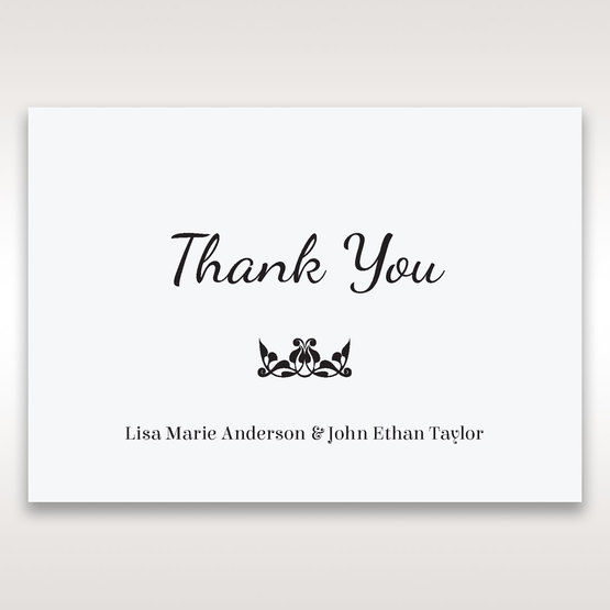 White Laser Gated Elegance Laser Cut Pocket - Thank You Cards - Wedding Stationery - 61