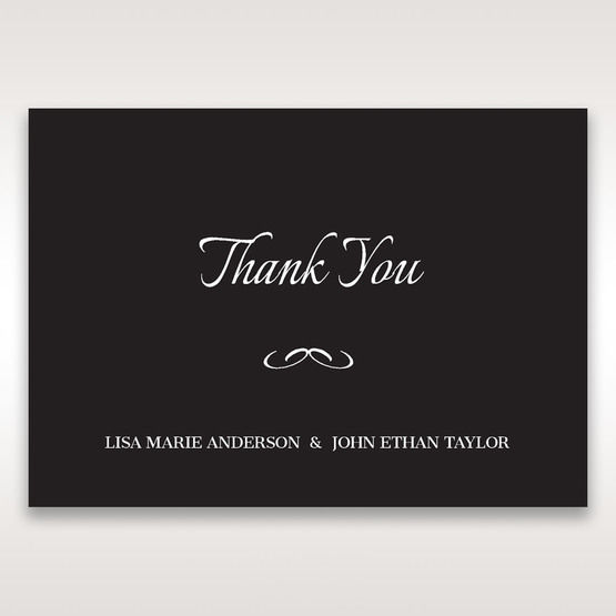 Black Laser Contempo Laser Cut Pocket - Thank You Cards - Wedding Stationery - 34