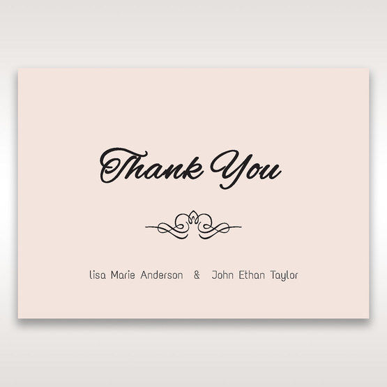 White Laser Inseparable Wrap - Thank You Cards - Wedding Stationery - 93