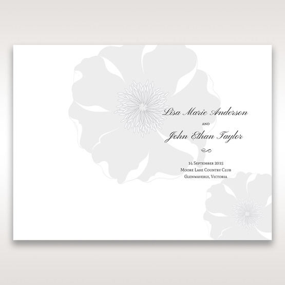 Silver/Gray Twinkling Rose - Order of Service - Wedding Stationery - 80