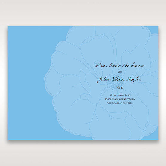 Blue Urban Flower Handcrafted - Order of Service - Wedding Stationery - 88