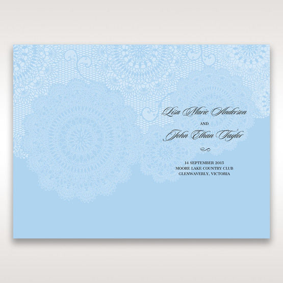 Blue Handmade Vintage Lace Floral - Order of Service - Wedding Stationery - 12