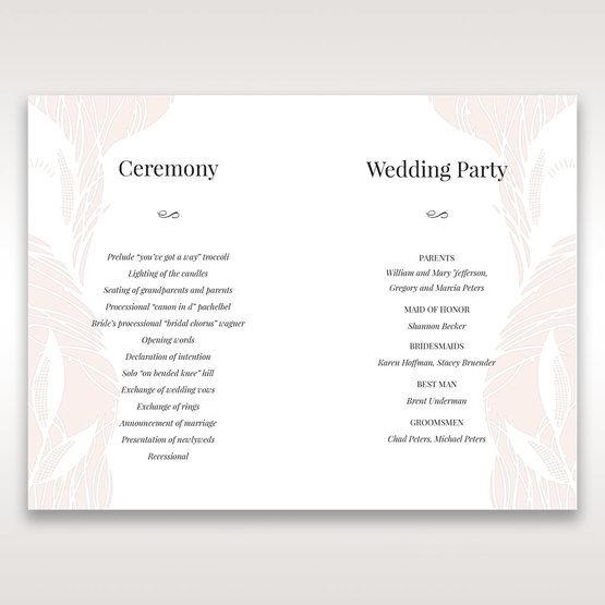 Orange Mystic Forest - Order of Service - Wedding Stationery - 19