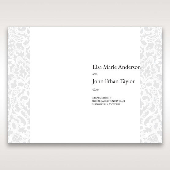 White Elegant Laser Cut - Order of Service - Wedding Stationery - 26