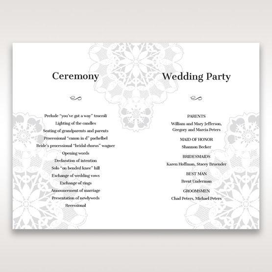 Black Laser Cut Floral Frame - Order of Service - Wedding Stationery - 39