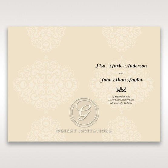 Yellow/Gold Jeweled Laser Cut - Order of Service - Wedding Stationery - 40