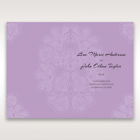 Purple Laser Cut Flower Frame III - Order of Service - Wedding Stationery - 52