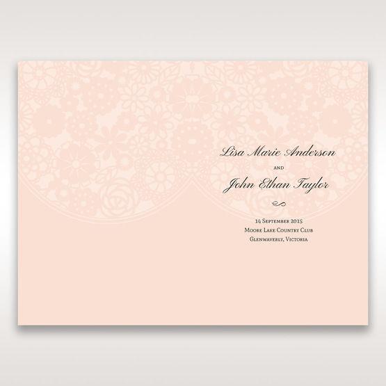 Orange Pink Light Romance - Order of Service - Wedding Stationery - 72