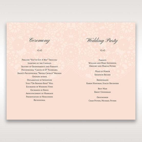 Orange Pink Light Romance - Order of Service - Wedding Stationery - 73