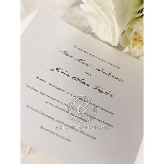 Thermography printed pure white inner card , closeup