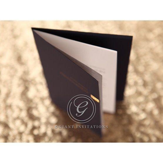 Folded wedding card, booklet style, whitepages, top view