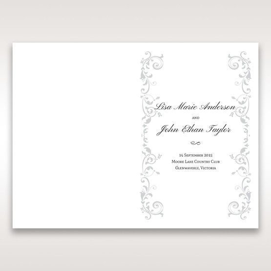 White Modern Times Vintage Pocket - Order of Service - Wedding Stationery - 82