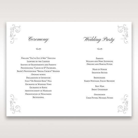 White Modern Times Vintage Pocket - Order of Service - Wedding Stationery - 83