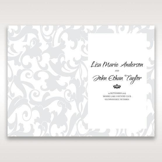 Blue Laser Scrolling Grandeur Layered Laser Cut - Order of Service - Wedding Stationery - 94