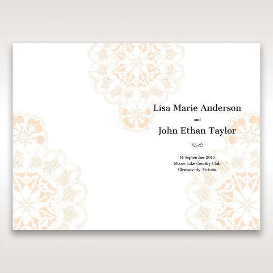 Orange Laser Cut Floral Frame - Order of Service - Wedding Stationery - 24