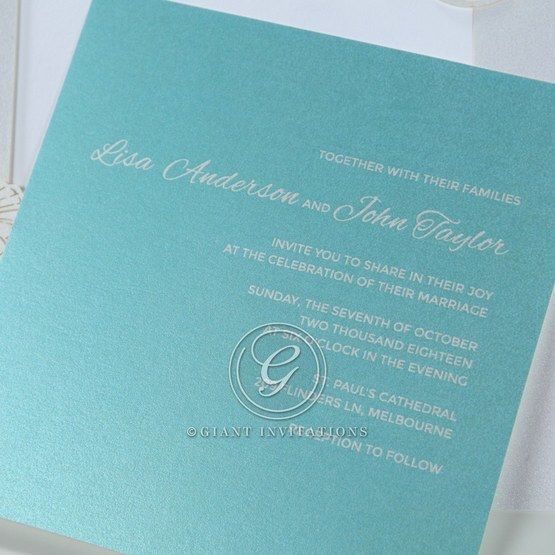 Green Ocean Frame I Laser Cut - Wedding invitation - 83
