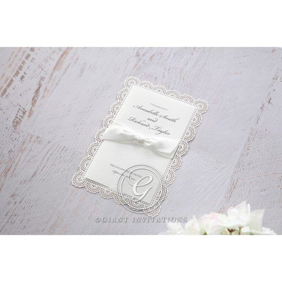 White Amabilis - Wedding invitation - 2