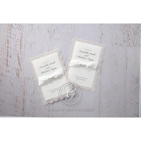 White Amabilis - Wedding invitation - 6
