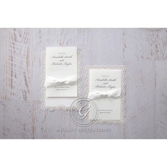 White Amabilis - Wedding invitation - 7
