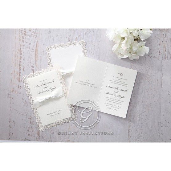 White Amabilis - Wedding invitation - 10