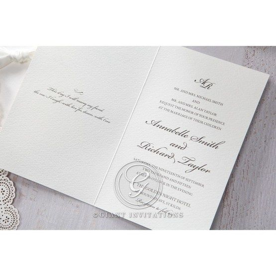 White Amabilis - Wedding invitation - 11