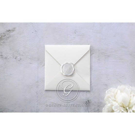 White Modern Pocket-Grey - Wedding invitation - 13