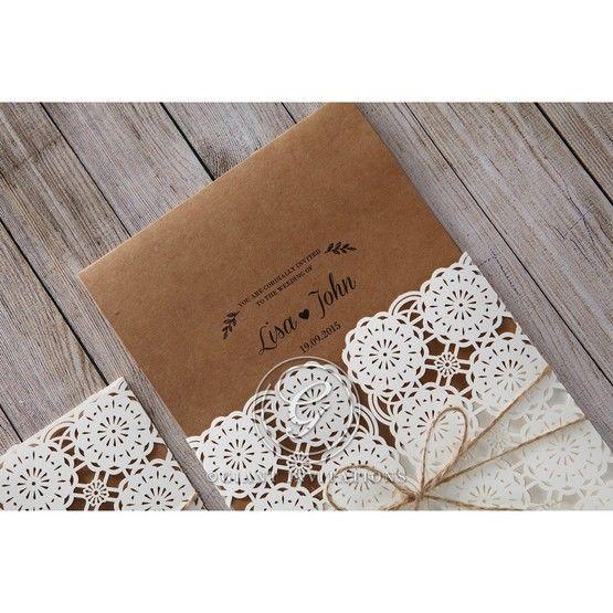 Brown Rustic - Wedding invitation - 43