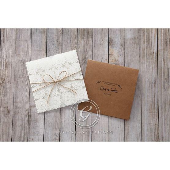 Brown Rustic - Wedding invitation - 44