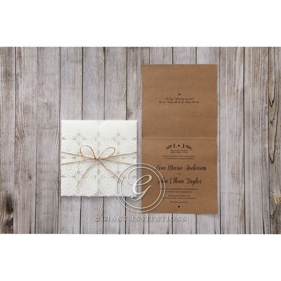 Brown Rustic - Wedding invitation - 46