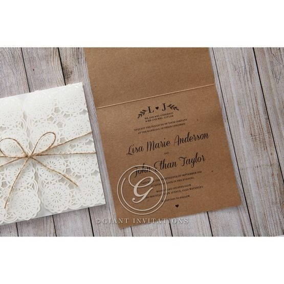 Brown Rustic - Wedding invitation - 47
