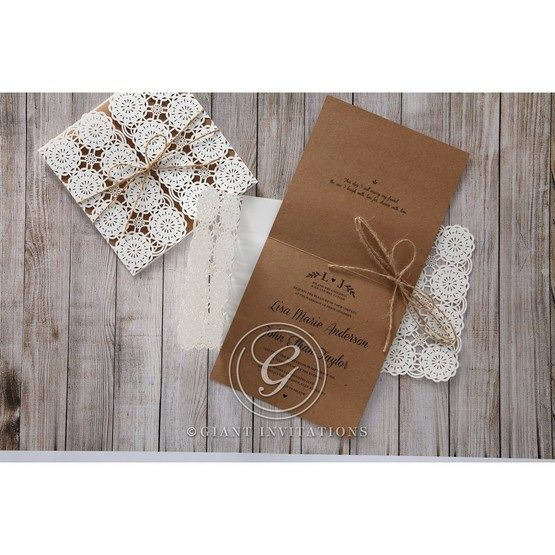 Brown Rustic - Wedding invitation - 49