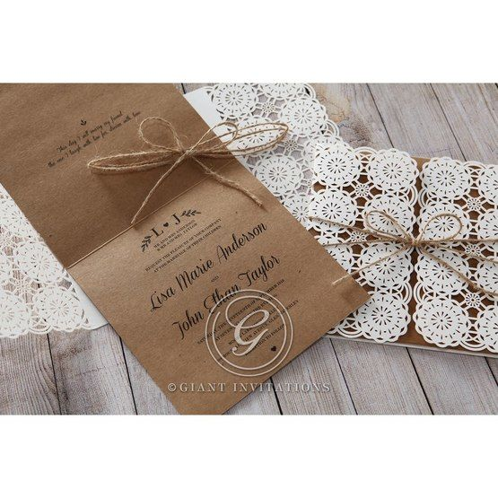 Brown Rustic - Wedding invitation - 52