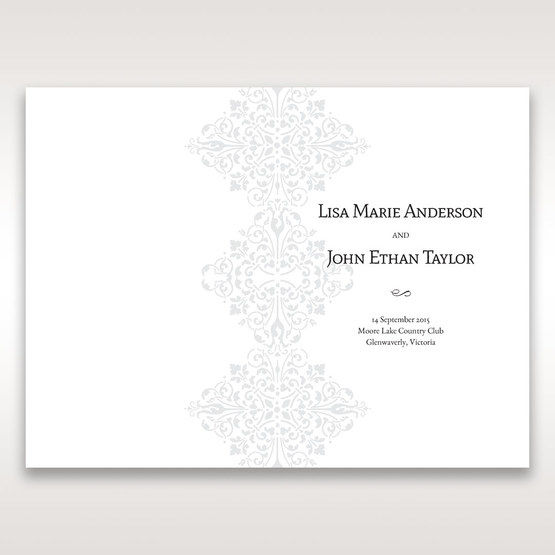 Black A Night at the Opera - Order of Service - Wedding Stationery - 34