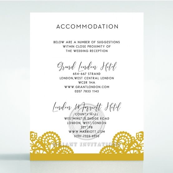 Breathtaking Baroque Foil Laser Cut accommodation card DA120001-DG