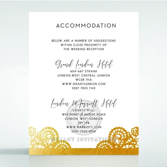 Breathtaking Baroque Foil Laser Cut accommodation card DA120001-KI-GG