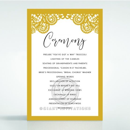Breathtaking Baroque Foil Laser Cut order of service DG120001-DG