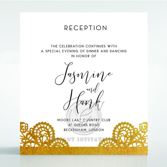Breathtaking Baroque Foil Laser Cut reception card DC120001-KI-GG