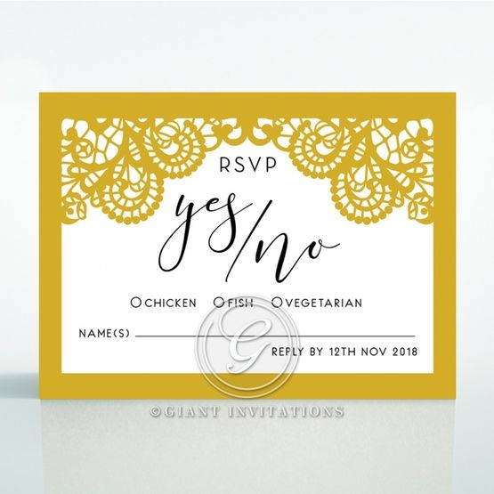 Breathtaking Baroque Foil Laser Cut rsvp card DV120001-DG