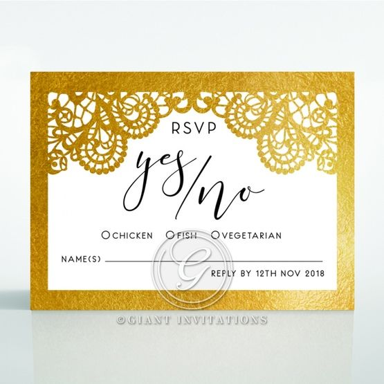 Breathtaking Baroque Foil Laser Cut rsvp card DV120001-KI-GG