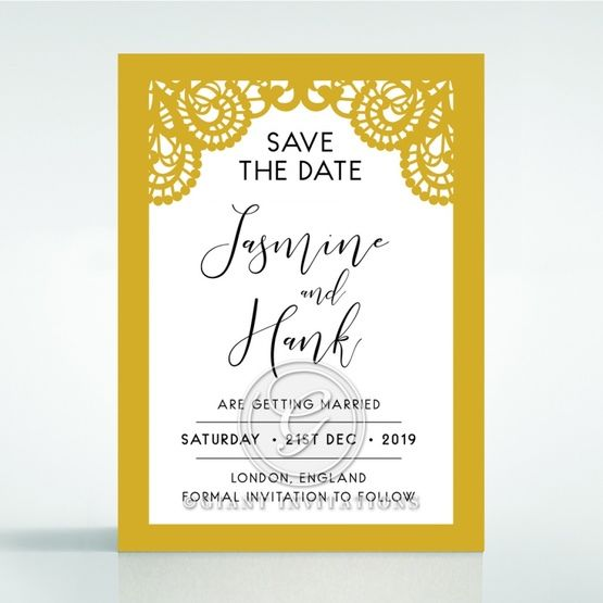 Breathtaking Baroque Foil Laser Cut save the date DS120001-DG