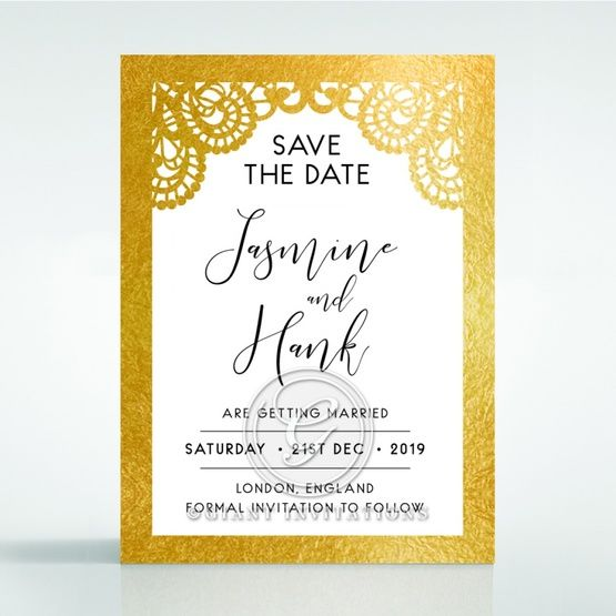 Breathtaking Baroque Foil Laser Cut save the date DS120001-KI-GG
