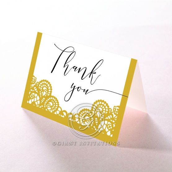 Breathtaking Baroque Foil Laser Cut thank you card DY120001-DG