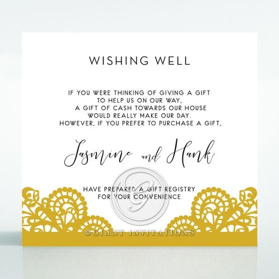 Breathtaking Baroque Foil Laser Cut wishing well card DW120001-DG