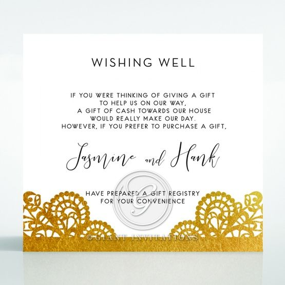 Breathtaking Baroque Foil Laser Cut wishing well card DW120001-KI-GG