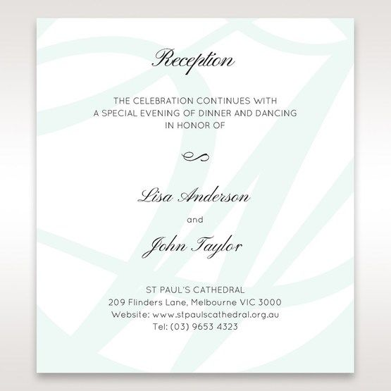 White Modern Marvel - Reception Cards - Wedding Stationery - 34