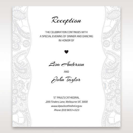 White White Dress - Reception Cards - Wedding Stationery - 38