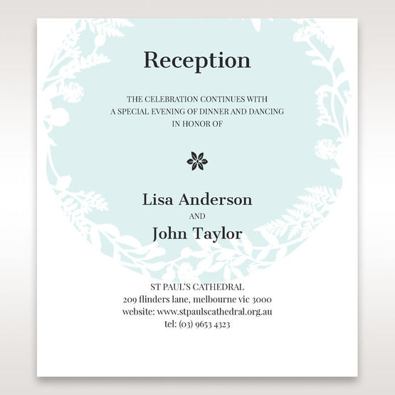 White Enchanted Forest II Laser Cut P - Reception Cards - Wedding Stationery - 42