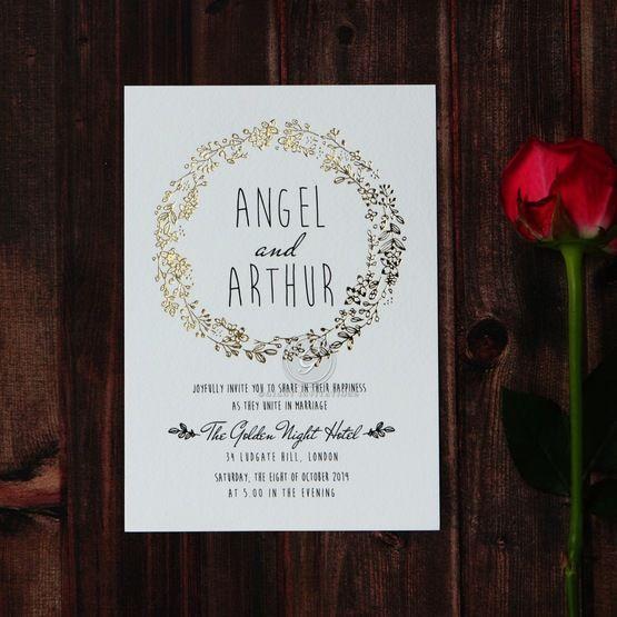 Charming Garland wedding invitations FWI116104-TR-GG