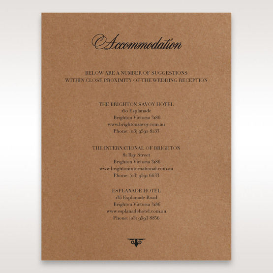 Brown Country Glamour - Accommodation - Wedding Stationery - 71