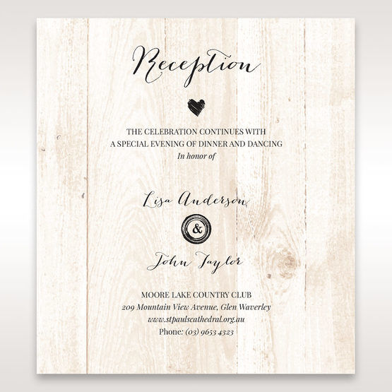 Brown Rustic Woodlands - Reception Cards - Wedding Stationery - 7